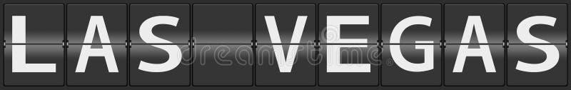 Las Vegas en el aeropuerto que mueve de un tirón el panel ilustración del vector