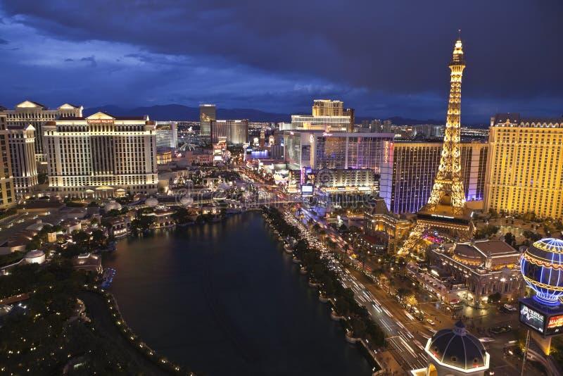 Las Vegas en la hora mágica imagen de archivo