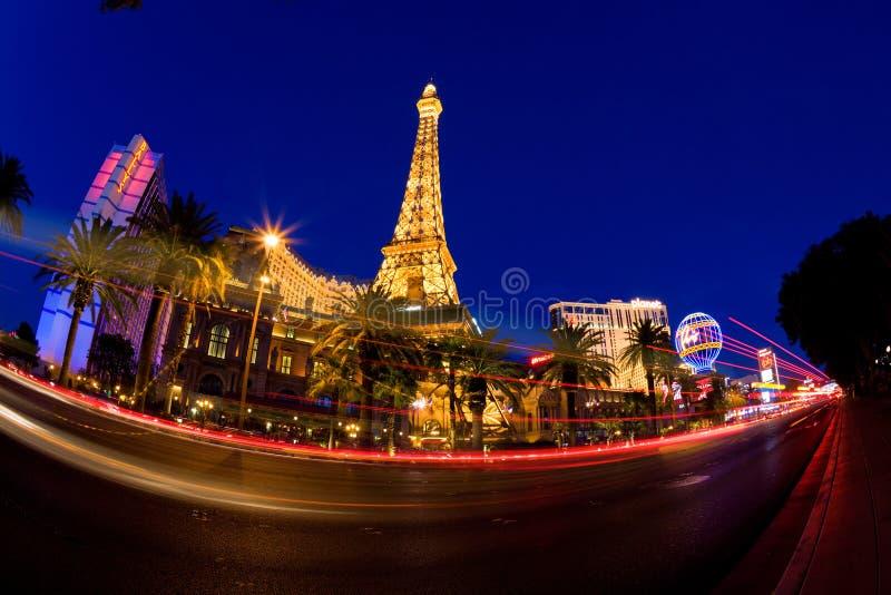 Las Vegas en la noche imagen de archivo