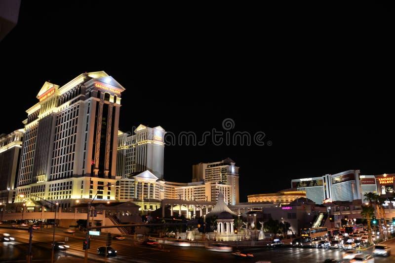 Las Vegas en la noche fotografía de archivo