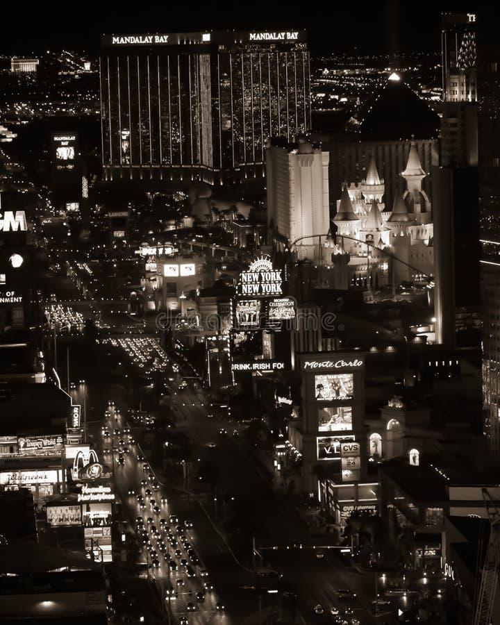 Las Vegas en la noche imagenes de archivo