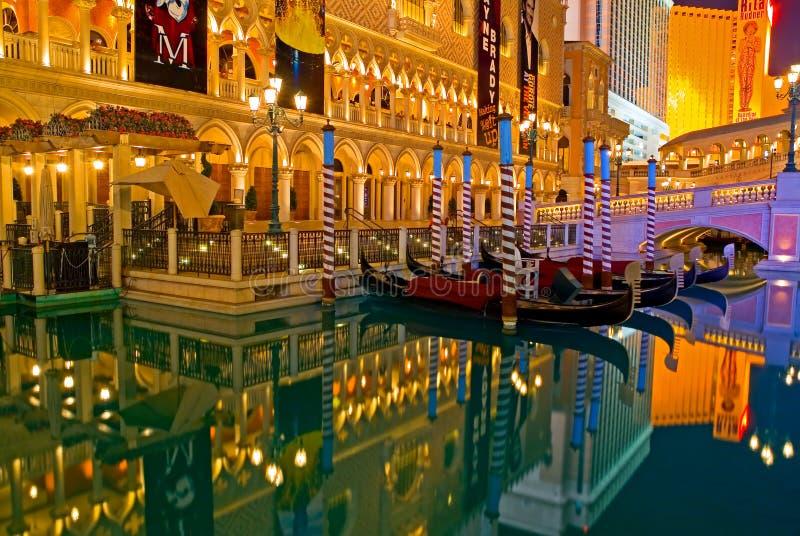 Las Vegas en la noche fotos de archivo libres de regalías