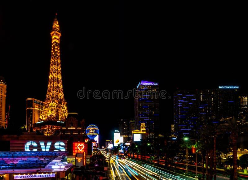 Las Vegas en la noche foto de archivo