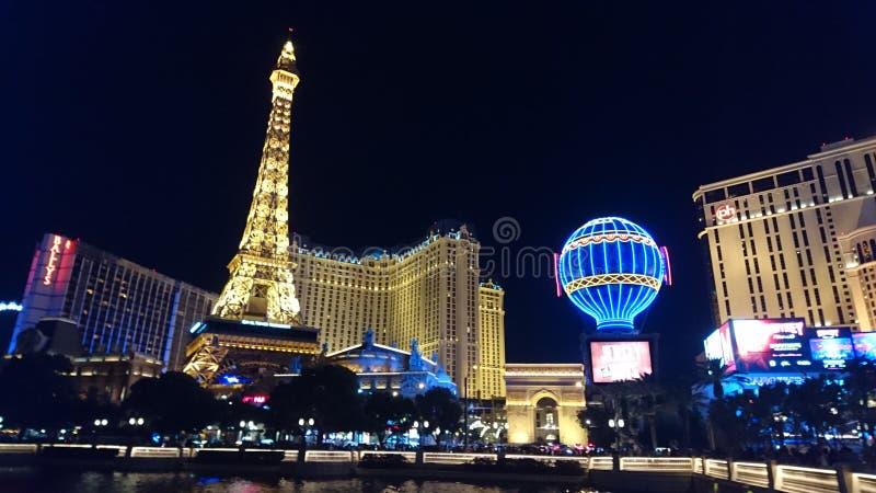 Las Vegas en la noche imágenes de archivo libres de regalías