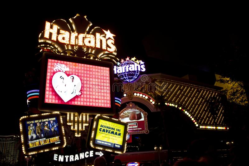 Las Vegas entro la notte immagini stock libere da diritti