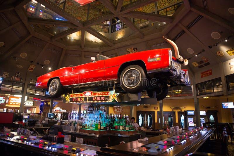 Las Vegas entro la notte fotografia stock libera da diritti