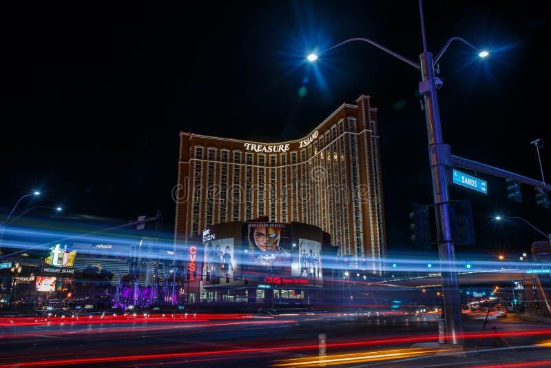 Las Vegas entro la notte immagine stock libera da diritti