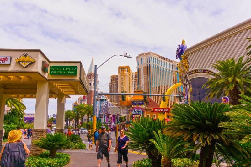 Las Vegas, Etats-Unis d'Amérique - 5 mai 2016 : L'extérieur de l'hôtel et du casino du ` s de Harrah sur la bande image stock