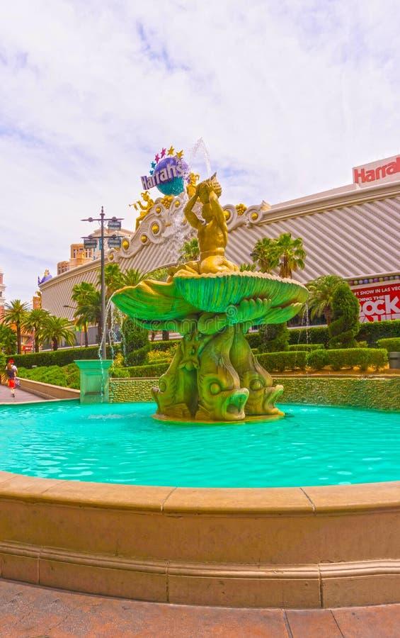 Las Vegas, Etats-Unis d'Amérique - 5 mai 2016 : La fontaine à l'hôtel et au casino du ` s de Harrah sur la bande photo stock