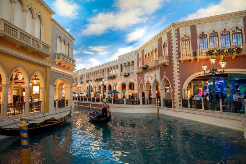 LAS VEGAS, EUA - 16 DE OUTUBRO DE 2018: O casino Venetian da estância abriu o 3 de maio de 1999 imagem de stock royalty free
