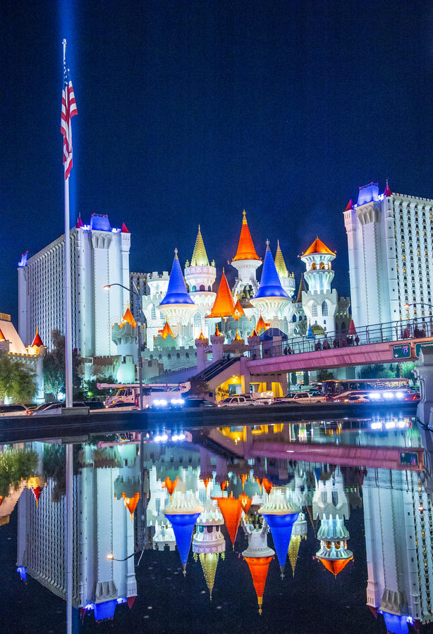 Las Vegas, Excalibur royalty-vrije stock foto