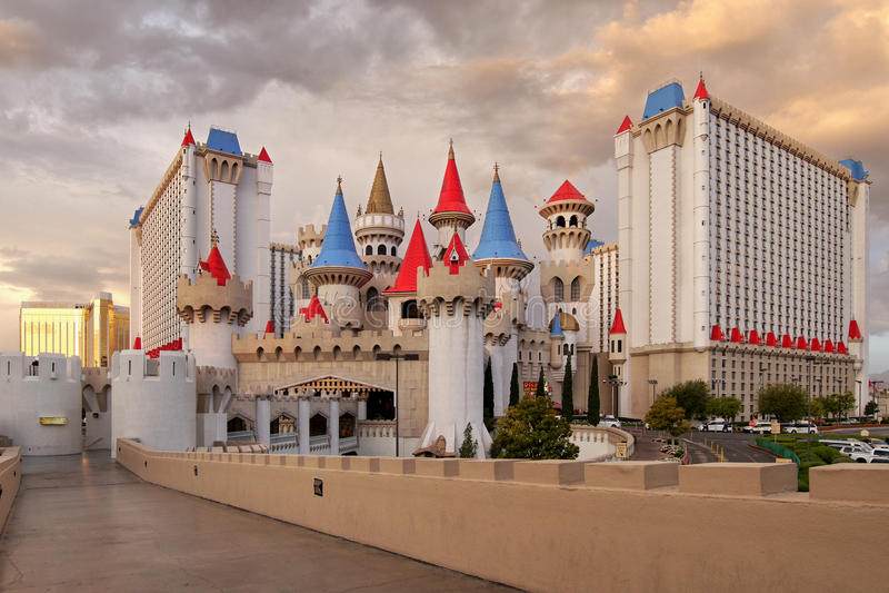 Las Vegas, Excalibur-casino en hotel royalty-vrije stock fotografie