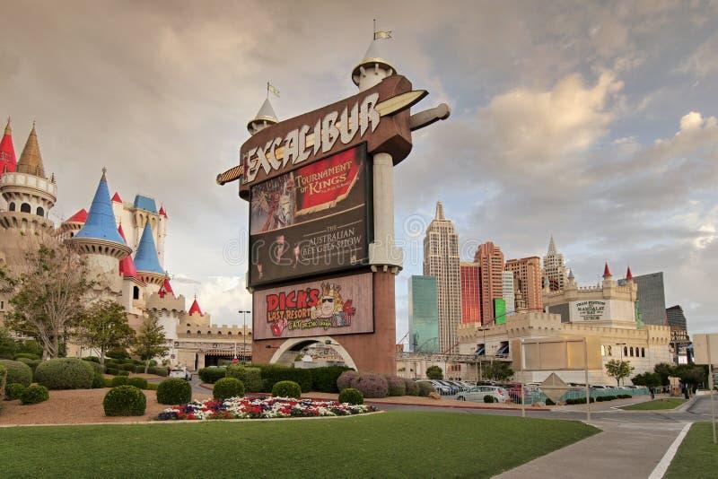 Las Vegas, Excalibur-casino en hotel stock afbeeldingen