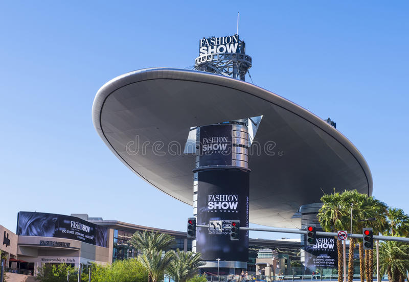 Las Vegas Fashion Show mall. LAS VEGAS - MAY 21 : The Fashion Show mall in Las Vegas strip on May 21 , 2016. The Fashion Show is one of the largest malls in the royalty free stock photos