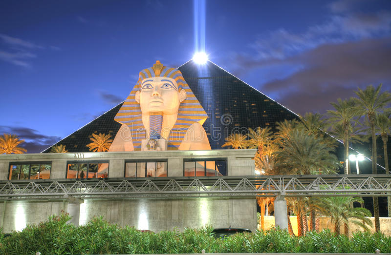 LAS VEGAS, FEB - 3: Luxor kasyno na Luty 3 i hotel, 201 zdjęcia royalty free
