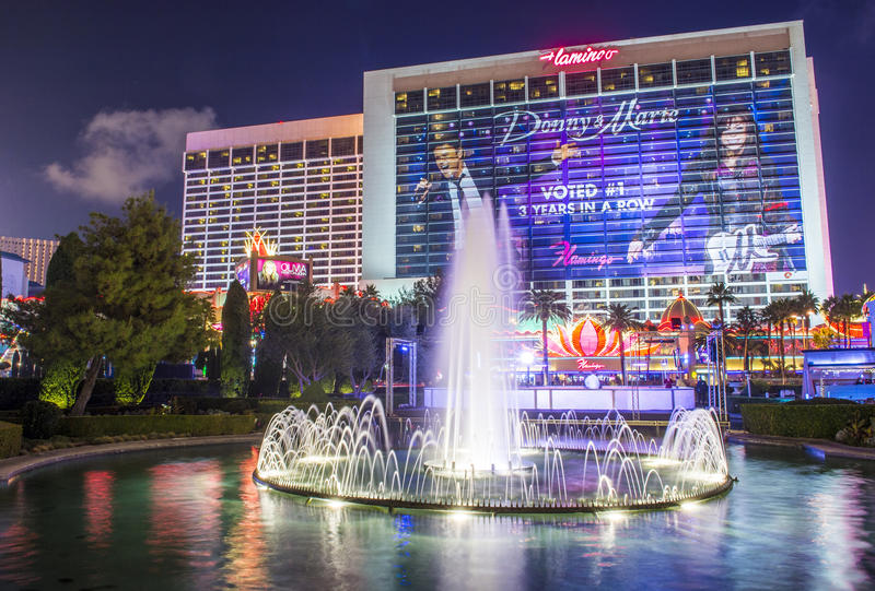 Las Vegas , Flamingo. LAS VEGAS - DEC 04 : The Flamingo hotel and casino on December 04 , 2014 in Las Vegas. The hotel opened by Bugsy Segal on 1946 and it's the royalty free stock photography