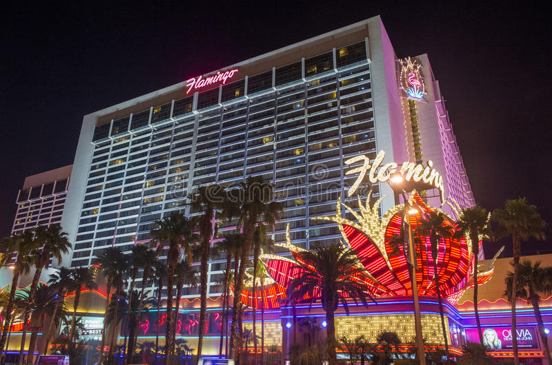 Las Vegas , Flamingo. LAS VEGAS - MAY 25 : The Flamingo hotel and casino on May 25, 2014 in Las Vegas. The hotel opened by Bugsy Segal on 1946 and it's the stock image