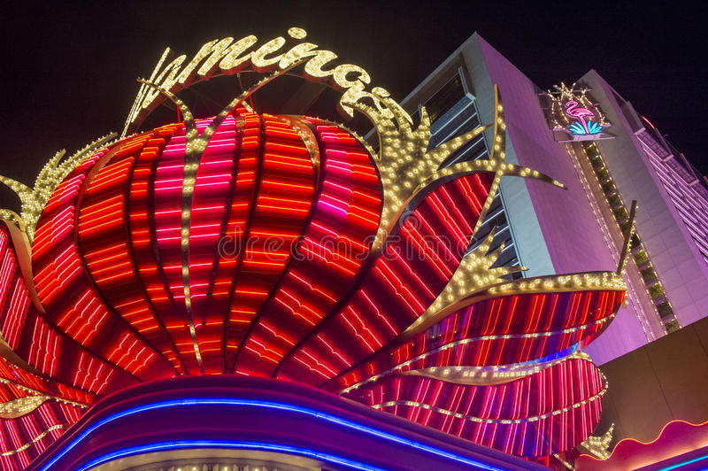 Las Vegas , Flamingo. LAS VEGAS - NOV 15 : The Flamingo hotel and casino on November 15, 2013 in Las Vegas. The hotel opened by Bugsy Segal on 1946 and it's the stock photo