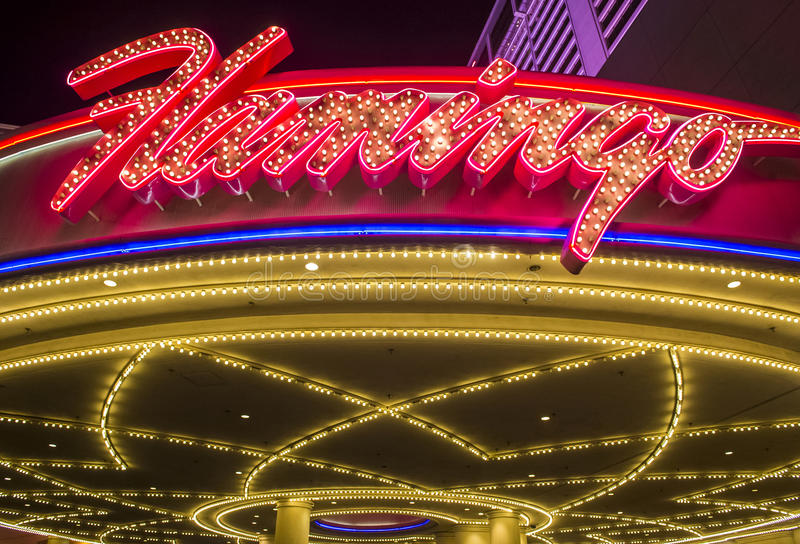 Las Vegas , Flamingo. LAS VEGAS - NOV 24 : The Flamingo hotel and casino on November 24 , 2016 in Las Vegas. The hotel opened by Bugsy Segal on 1946 and it`s the royalty free stock image