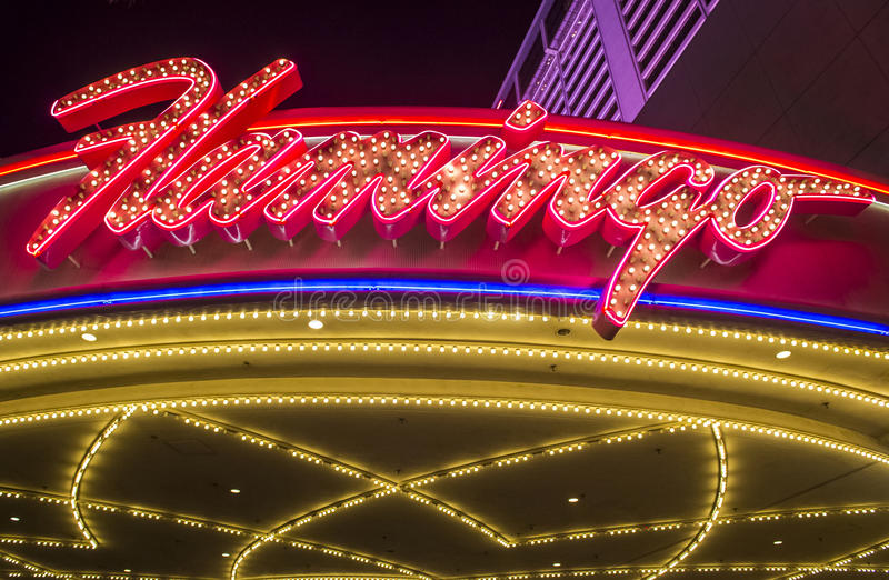 Las Vegas , Flamingo. LAS VEGAS - NOV 24 : The Flamingo hotel and casino on November 24 , 2016 in Las Vegas. The hotel opened by Bugsy Segal on 1946 and it`s the stock images