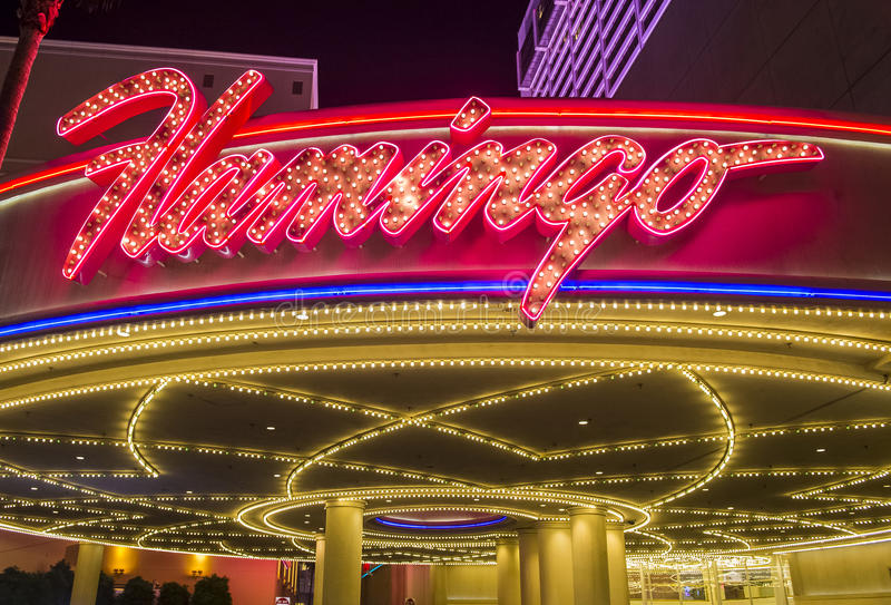 Las Vegas , Flamingo. LAS VEGAS - NOV 24 : The Flamingo hotel and casino on November 24 , 2016 in Las Vegas. The hotel opened by Bugsy Segal on 1946 and it`s the royalty free stock images