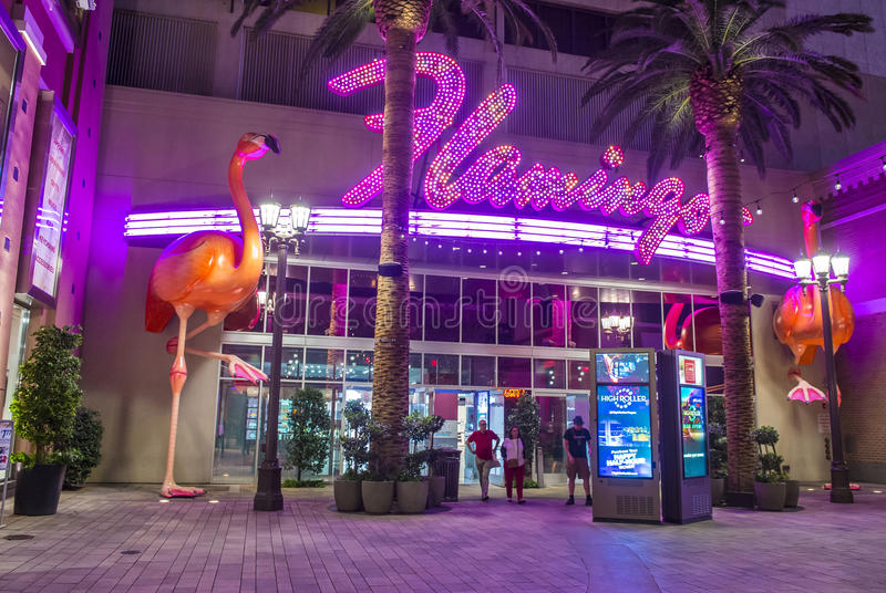 Las Vegas , Flamingo. LAS VEGAS - OCT 05 : The Flamingo hotel and casino on October 05 , 2016 in Las Vegas. The hotel opened by Bugsy Segal on 1946 and it`s the stock photos