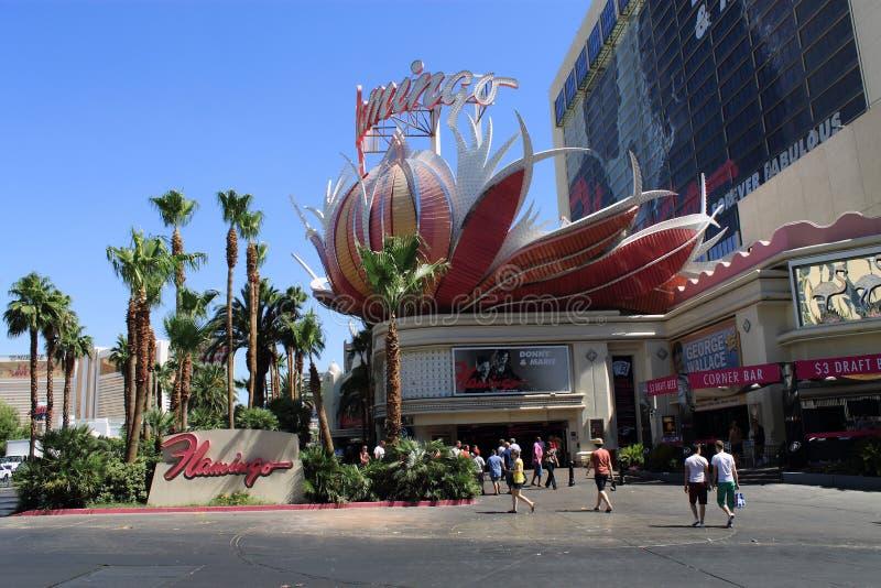 Las Vegas - hôtel et casino de flamant images libres de droits