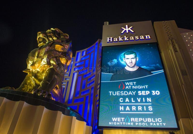 Las Vegas, Hakkasan-Nachtclub royalty-vrije stock afbeeldingen