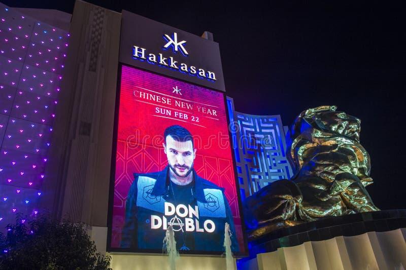 Las Vegas, Hakkasan-Nachtclub stock afbeelding