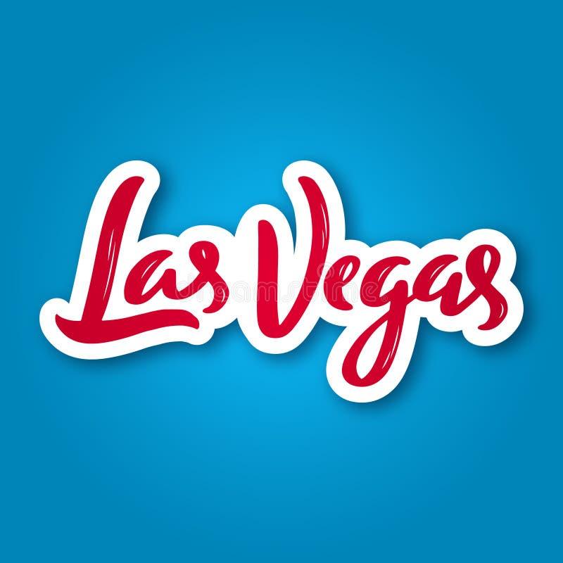 Las Vegas - hand getrokken het van letters voorzien uitdrukking stock illustratie