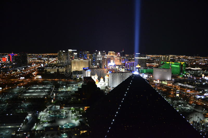 Las Vegas from the height stock photography