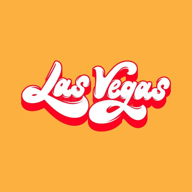 Las Vegas Het vector met de hand geschreven geïsoleerd van letters voorzien stock illustratie