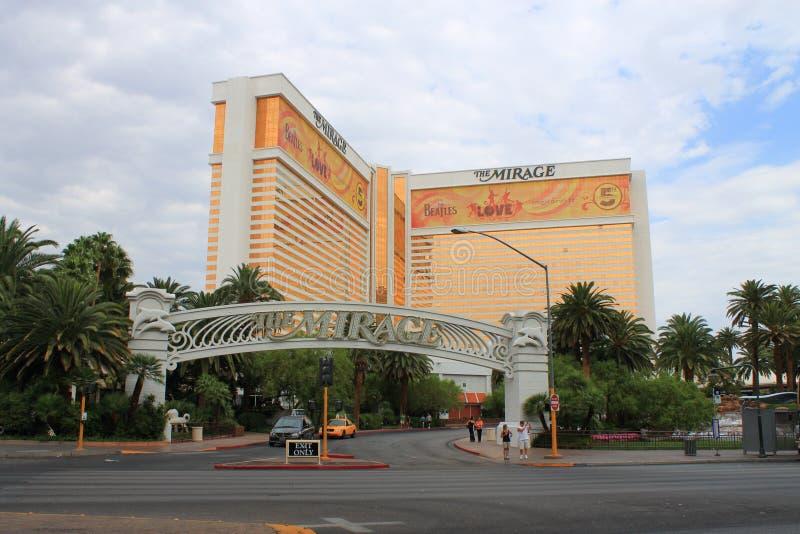 Las Vegas - hotel y casino del espejismo fotografía de archivo libre de regalías