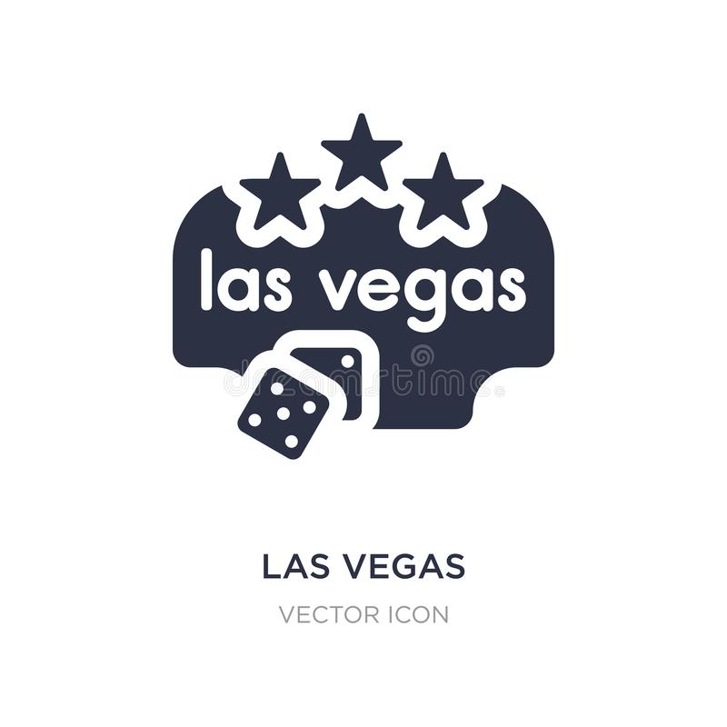 las vegas icon on white background. Simple element illustration from Maps and Flags concept stock illustration