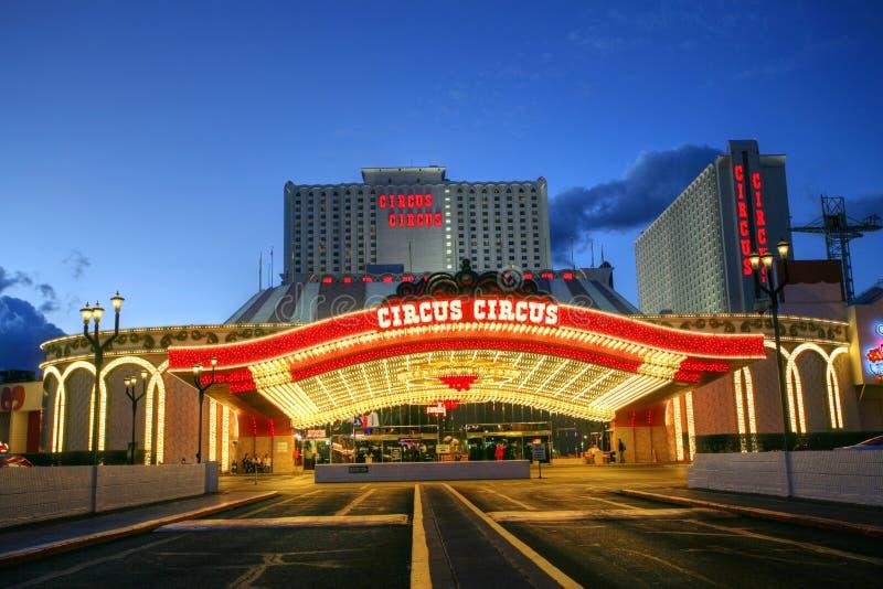LAS VEGAS JANUARI 31: Den cirkuscirkushotellet och kasinot på Janu royaltyfri foto