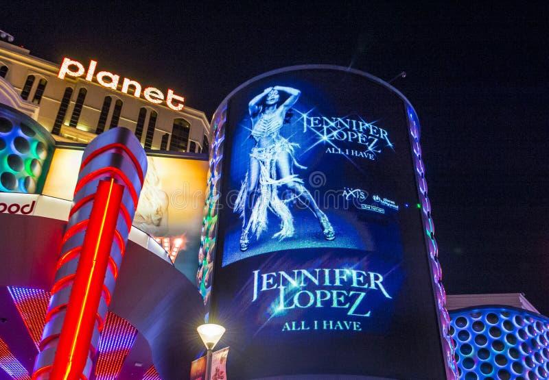 Las Vegas, Jennifer Lopez stockfotos