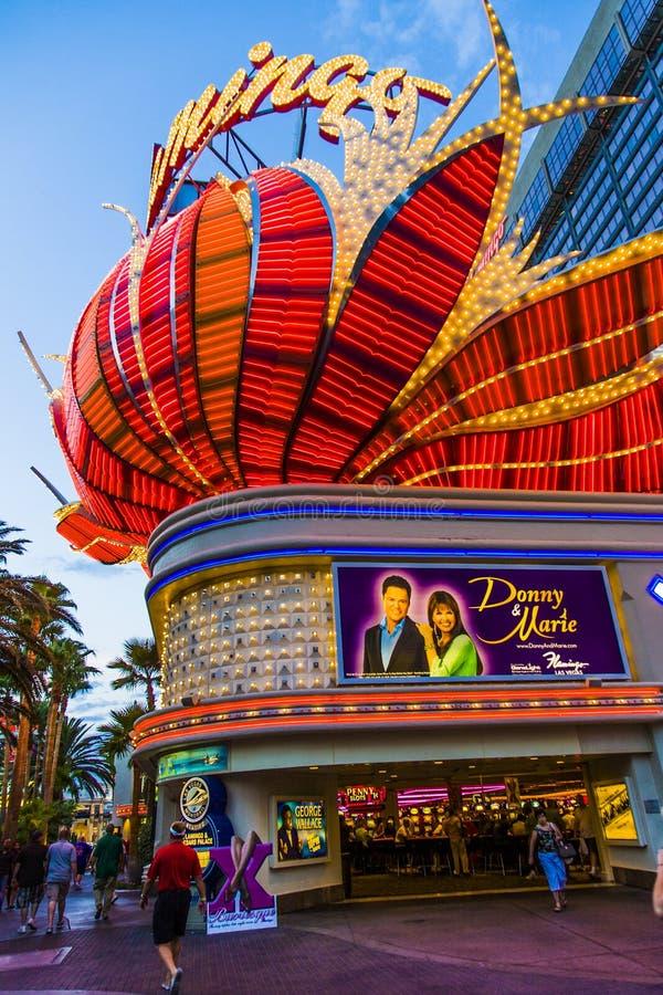 Het hotel van de flamingo en het gokken plaats op de Strook van Las Vegas royalty-vrije stock afbeelding