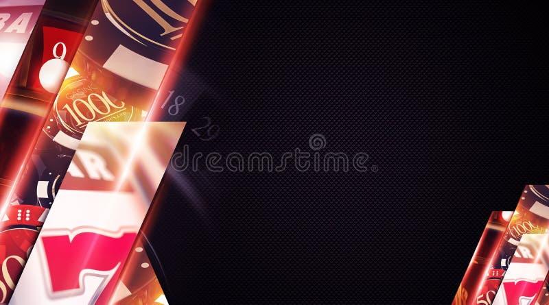 Las Vegas-Kasino-Hintergrund lizenzfreie stockfotografie