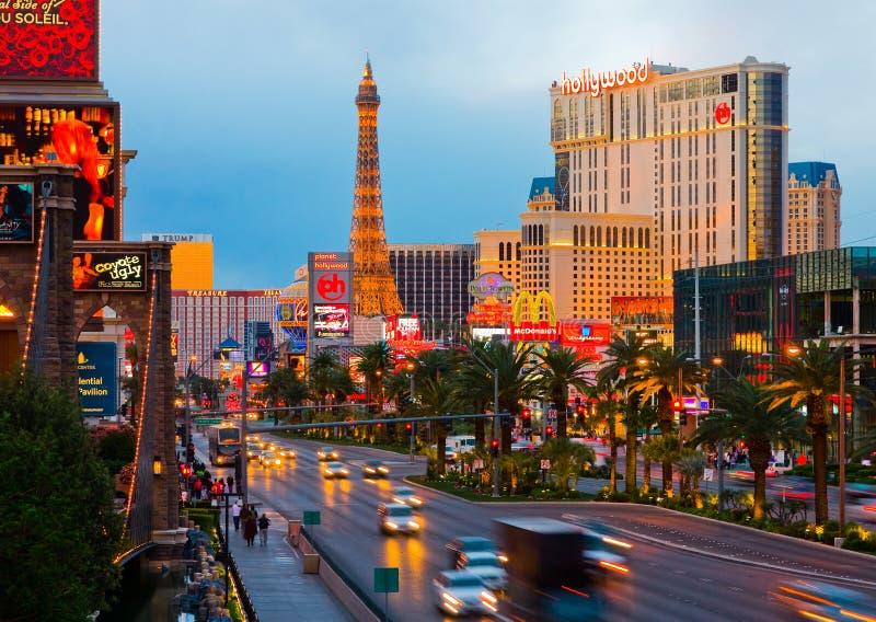 Las Vegas la nuit photos stock