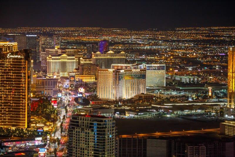 Las Vegas la nuit photographie stock libre de droits