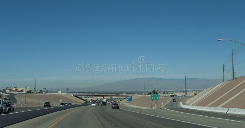 Las Vegas landskap från huvudväg 515 från sydost royaltyfri bild