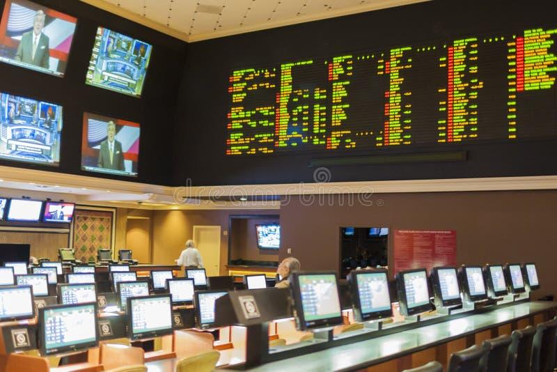Las Vegas - le Nevada, Etats-Unis, septembre, 30 : Sport pariant au luxu image stock