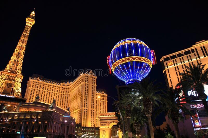 Las Vegas Lights. Vivid lights from a scene along the Las Vegas strip
