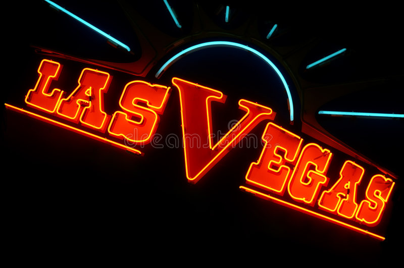 Las Vegas lights stock photography