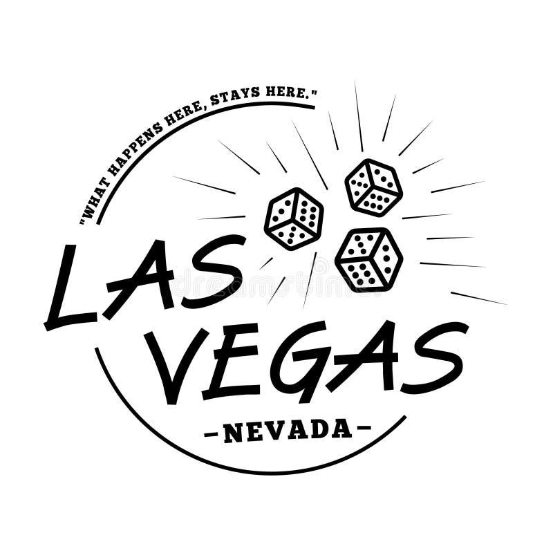 Las Vegas logotype De vector en de illustratie van Las Vegas stock illustratie
