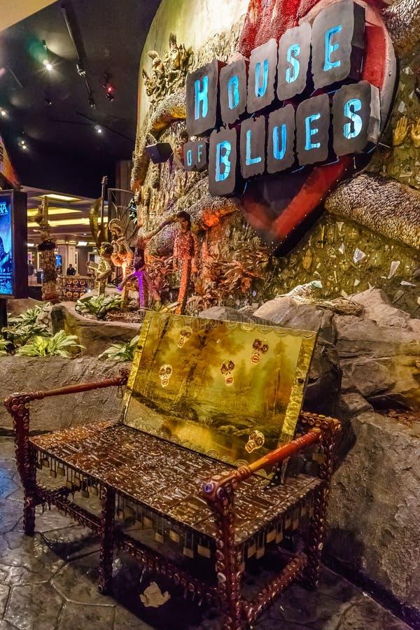 Las Vegas, los E.E.U.U. - julio de 2016 visión de la tira de Las Vegas en la noche en Nevada los E.E.U.U. fotos de archivo libres de regalías