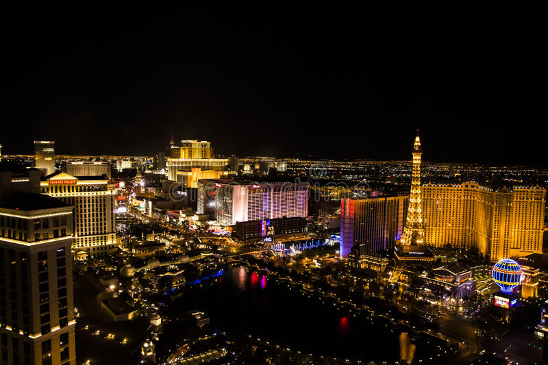 Las Vegas Main Strip, Nevada stock photo