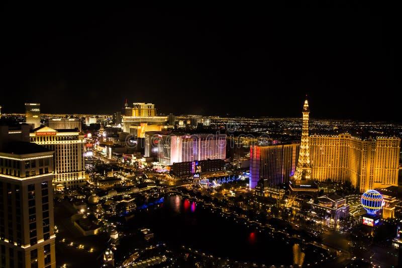 Las Vegas Main Strip, Nevada. View of the main strip of Las Vegas, Nevada, USA from the window of Cosmopolitan Hotel stock photo