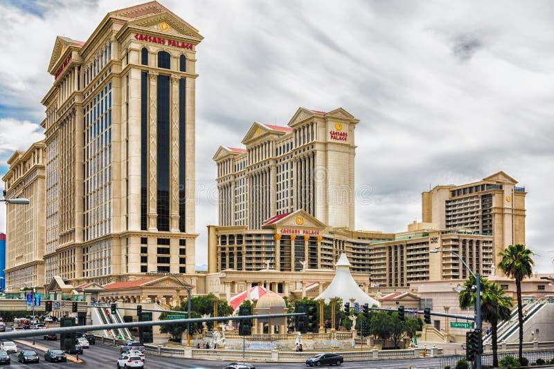 LAS VEGAS - 31 MAJ 2017 - Caesars Palace är en diamant l för amerikanska motorförbundet fyra royaltyfria bilder