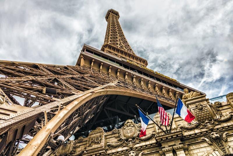 LAS VEGAS - 31 - MAJ 2017 - Paris Las Vegas är ett hotell och en kasino royaltyfri bild